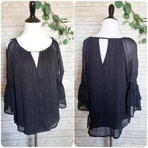 4 for $25 black flowey blouse